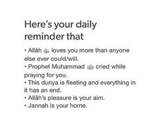 Daily reminder for Muslims💐 Allah Quotes, Muslim Quotes, Quotes About Allah, Hadith Quotes, Islam Motivation, Allah Loves You, Religion Quotes, Wisdom Quotes, Quotes Quotes