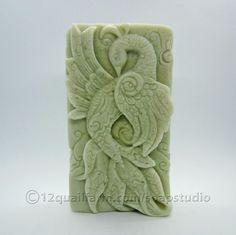 Peacock Soap (Green) - Soap Studio