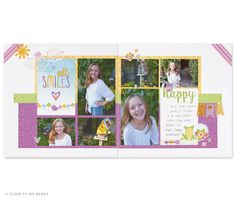 You can create this page layout using the new Penelope Workshops Your Way Scrapbooking Kit.  The workshop kit contains all of the products you need to create 3 double-page scrapbooking layouts, 1 double-page Picture My Life pocket scrapbooking layout and 8 cards. This kit is accompanied by an online cutting and assembly guide that will help you turn the collection of products into truly beautiful works of art. Visit http://scrapstampshare.ctmh.com.au for more details.