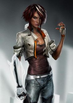 cyberpunk art from Remember Me game by Dontnod Character Concept, Character Art, Concept Art, Character Ideas, Sci Fi Characters, Science Fiction Art, Wearable Technology, Shadowrun, Character Design References