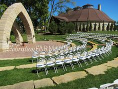 The #outdooramphitheater at the @celebrationfarm is a beautiful space to #exchangevows!  #celebrationfarm #iowawedding #iowacity #wedding #thecelebrationfarm #diywedding #outdoorwedding