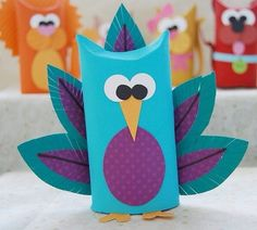 Toilet Tube Animals - Creative Me Inspired You! - - Learn how to make adorable toilet tube animals in this fun craft using recycled cardboard tubes. Toilet Tube, Toilet Roll Craft, Toilet Paper Roll Crafts, Crafts To Make, Craft Projects, Crafts For Kids, Arts And Crafts, Easy Crafts, Rolled Paper Art