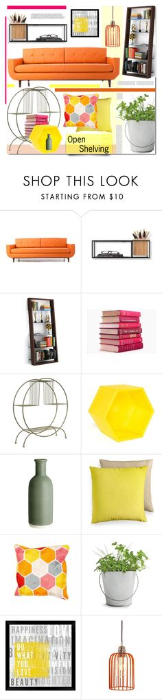 """""""Open SHelving"""" by prigaut ❤ liked on Polyvore featuring interior, interiors, interior design, home, home decor, interior decorating, Joybird Furniture, Umbra, BDI and Dot & Bo"""