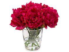 John Richard Transitional Fresh Water Look Raspberry Nosegay Decorative Floral Arrangement