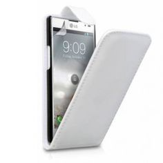 Funda LG Optimus L9 Klam Flip - Blanca