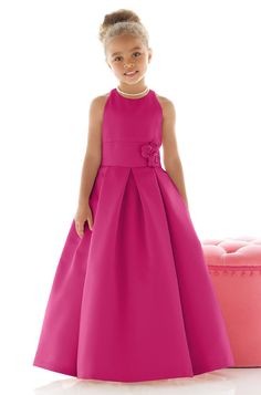 Shop Dessy Flower Girl Dress - in Matte Satin at Weddington Way. Find the perfect made-to-order flower girl dress for the little girl in your wedding. Red Flower Girl Dresses, Little Girl Dresses, Girls Dresses, Flower Girls, Pageant Dresses, Abigail's Flower, Party Dresses, Evening Dresses, Party Fashion