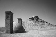http://runngunmuc.tumblr.com/post/123675777965/zoroastrian-towers-of-silence-dakhme-yazd