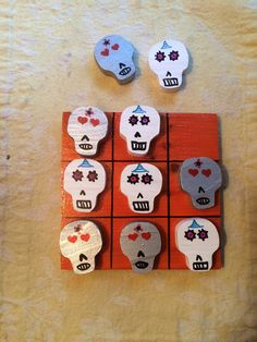 Sugar Skull Tic Tac Toe by DustWitchCreations on Etsy