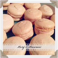 My Mother In Law's Homemade Macaroons.  Mary's Strawberry Buttercream and Fresh Ginger Buttercream Macaroons. #macaroons #macarons