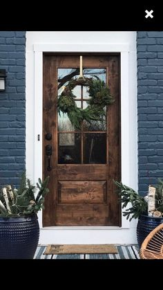 farm-style, mid century modern, contemporary rustic door, // handmade, custom fixer upper style entry door for your home Rustic House Exterior Quinta Interior, Rustic Doors, Wood Front Doors, Farmhouse Front Doors, Country Front Door, Rustic Farmhouse, Front Doors With Windows, Front Door With Glass, Farmhouse Windows