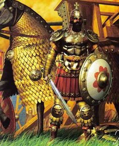 Byzantine Emperor in battle armor.