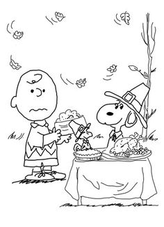 Charlie Brown Thanksgiving Coloring page                                                                                                                                                                                 More