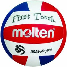 Molten First Touch Volleyball (Red/White/Blue, 10 and Under/2.5-Ounce) by Molten. $16.82. First Touch, 10  Lightweight, Machine Stitched Soft Cloth and Foam Cover