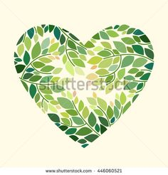 Romantic background in the shape of a heart. Floral vector card