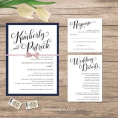 Elegant Wedding Invitation Set Of 10 Quick Delivery Lots Color Theme Options Elegance