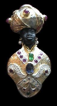 Venetian Blackamoor Brooche - Dogale jewellery Venice Italia