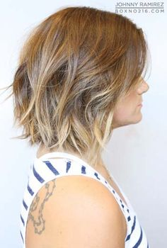 a-line bob with ombre highlights - ok maybe I want to do ombre again, but a little darker on the top than this picture!
