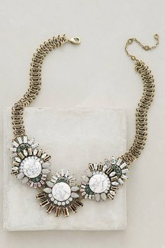 Oak Moss Bib Necklace by BaubleBar x Anthropologie