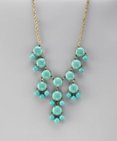 Take a look at this Turquoise Bubble Necklace by ZAD on #zulily today!