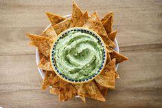 Giada's Avocado Hummus with Spiced Lime Pita Chips   Giada De Laurentiis