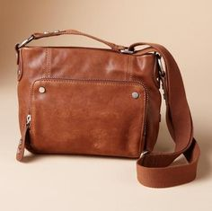 Crossbody Organizer Bag Compact Zip Top Glazed Lamb Leather Sports A Built