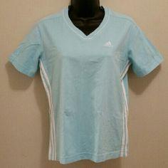 Adidas Shirt Baby Blue Adidas shirt in EUC, like new! Adidas Tops Tees - Short Sleeve