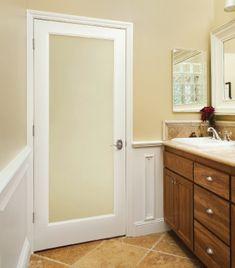 New interior doors, privacy glass. HomeStoryAustin.com