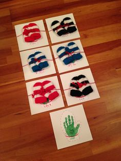 hand print and mittens book