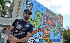 #Cuba: Un mural del #cubanoamericano 'Lebo' abre las puertas de #Miami Beach a los turistas