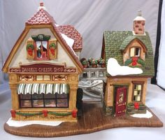 DANIEL'S CHEESE SHOP HEARTLAND VALLEY VILLAGE CHRISTMAS HOLIDAY LIGHTED BUILDING