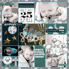 Project Life 2014 (Week 17, Day 5): Sleepy Boy - Scrapbook.com