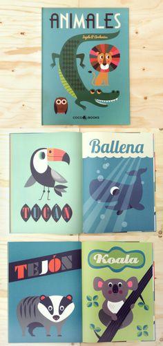Animales. Bestiario ilustrado por Ingela P. Arrhenius. 32 láminas gigantes cuidadosamente ilustradas. Coco Books. Coco, Book Covers, Kids Rugs, Plates, Reading, Illustration, Books, Pattern, Museum