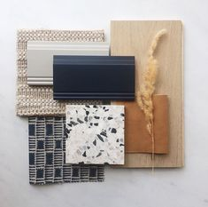 F L A T L A Y-F R I D A Y // colors inspired by summer days turning into fall nights featuring a gorgeous terrazzo by Interior Design Boards, Interior Design Business, Material Board, Farmer's Daughter, Style Deco, Colour Board, Colour Schemes, Color Palettes, Collage
