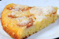 Tarta de damascos con suave sabor a limón