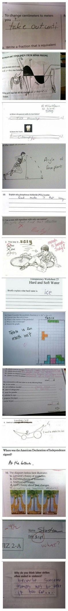 Kids homework. ..lol
