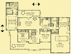 Architectural House Plans : Floor Plan Details : Southern Exposure