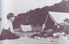 Rupert Brooke and Gerald Shove camping with the neo-pagans, 1911(?)