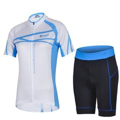 2015 Latest Women Summer Blue White Bicycle Jersey Sets Cycling Praising Life Short Sleeves And Pants Online with $41.89/Piece on Carcover's Store   DHgate.com