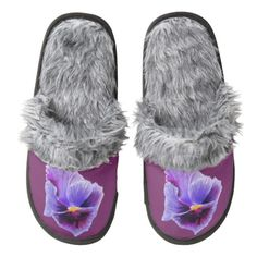 Purple Pansy Slippers