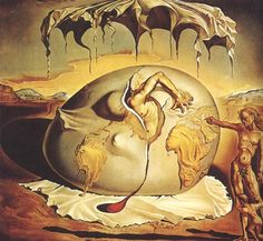 Geopolitical Child Watching the Birth of the New Man Completion Date: 1943 Style: Surrealism Genre: allegorical painting Technique: oil Material: canvas