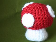 Completed Project: Cutest Little Mushroom   Crochet Tutorial Picture #1