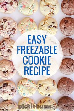 Try this easy freezable cookie recipes - it makes lot of cookie dough quickly and easily! Try this easy freezable cookie recipes - it makes lot of cookie dough quickly and easily! Freezable Cookie Dough, Freezer Cookie Dough, Freezer Cookies, Freezer Desserts, Freezable Meals, Cookie Dough Recipes, Easy Cookie Recipes, Freezer Meals, Baking Recipes