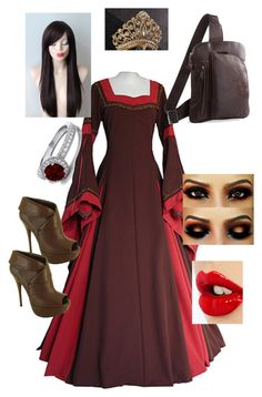 """Medieval Princess Traveling"" by nightwingsgirl ❤ liked on Polyvore featuring Qupid and Charlotte Tilbury"