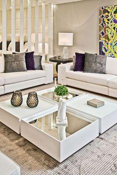 mesas de centro com espelho. como decorar a sala de estar. como decorar sala. mesa de centro diferente. decorar com espelho. moveis espelhados