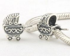 Sterling Silver Shopping Cart Charms - Tibet Silver Charms - Charms - LYDIA JEWELLERY