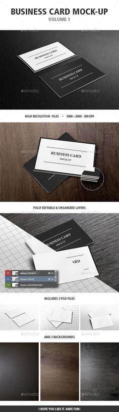 Black business card mockup black business card mockup and business card mock up vol 1 reheart Gallery