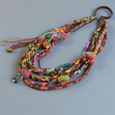 Layered boho neckla – chunky necklace statement / Multi Chain Long Beaded  Necklace