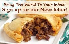 Chilean Empanadas de Pino are flavorful beef empanadas filled with unexpected ingredients like raisins, olives, and hard boiled eggs. Vegan Gluten Free, Vegan Vegetarian, Ras El Hanout, Dry Yeast, Perfect Food, Newsletter Signup, Food Inspiration, Oven, Tasty
