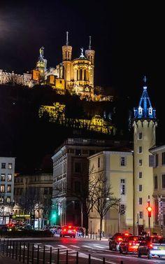 Fourvière, Watching over Lyon, Rhone-Alpes, France Lyon France, Rhone, France Travel, Photos, House Styles, Monaco, Cities, Alps, Wonderful Places