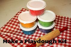 Make a playdough kit to give as a gift.